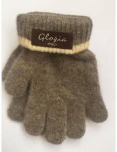 Перчатки зимние светло-коричневого цвета Glopia